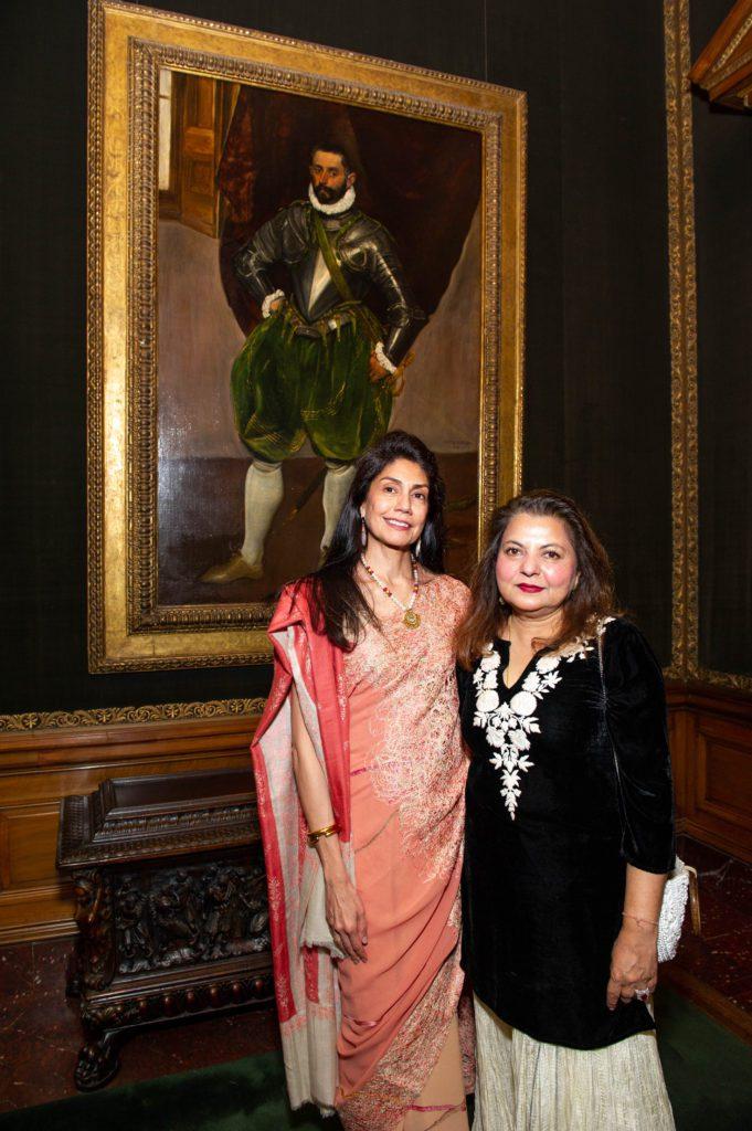 Trustee Ayesha Bulchandani and Abha Sawhney