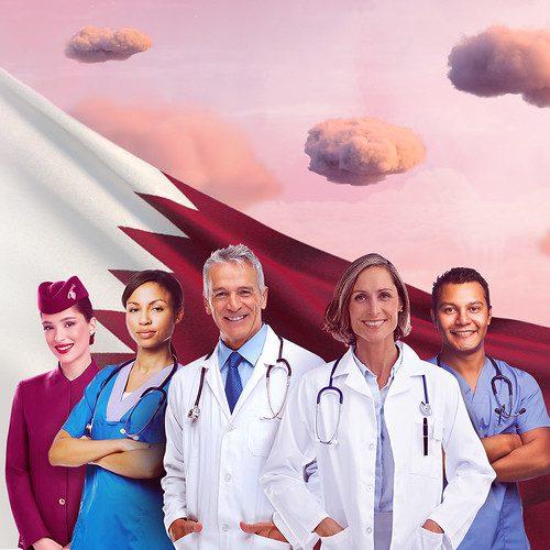 qatar airways travel medical professionals doha