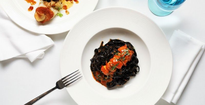 nerai lobster pasta Chef Moshe Grundman mother's dayblack ink