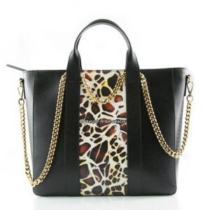 cheetah leather tote