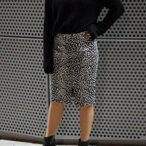 monoimanii leopard skirt